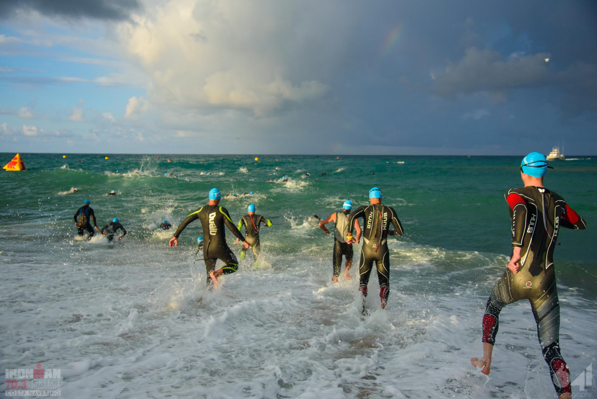 1.9-km swim in the Ionian Sea
